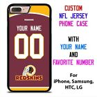 WASHINGTON REDSKINS JERSEY NFL Custom Phone Case Cover for iPhone Samsung Galaxy $15.9 USD on eBay