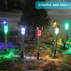 10 x COLOUR CHANGING STAINLESS STEEL SOLAR LED GARDEN PATIO POST OUTDOOR LIGHTS