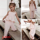 Toddler Kids Baby Girls Clothes Ruffle Romper Jumpsuit Bodysuit Outfits Sunsuit