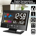LCD Digital Display Snooze Clock Thermometer humidity Alarm Weather Hygrometer
