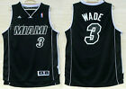 New Men's Miami Heat NO.3 Dwyane Wade basketball jersey R30 Black S-XXL on eBay