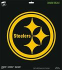 Pittsburgh Steelers Logo Football Champions Round Vinyl Decal Car Window 1 Color $11.99 USD on eBay