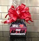 We Love ❤️ Our Customers Candy Gift Box-Basket Wrapped With Red Bow & Card