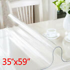 PVC Clear Tablecloth Transparent Fitted Table Cloth Cover Waterproof Wipe Clean