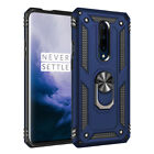 For OnePlus 7Pro Shockproof Armor Magnetic Metal Ring Hard Case+Screen Protector