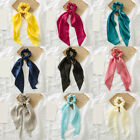 Women Solid Color Silky Satin Bow Hair Ties Hair Rope Hair Ring Hair Accessories