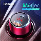 Baseus 45W Car Charger Quick Charge 3.0 USB PD Type-C for iPhone Samsung Google