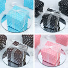 "200 pcs 2x2"" Polka Dot Wedding Favors Gift BOXES Removable Lid - Party Supplies"