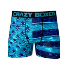 CRAZY BOXER UNDERWEAR AMERICAN FLAG PATRIOTIC  URBAN MENS BOXER SHORTS