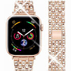 Stainless Steel Bling Diamond Bands for Apple Watch Series 4 3 2 1 iWatch Bands# image