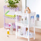 3-layer Plastic Kitchen Bathroom Multilayer Shelf Storage Rack Holder Organizer