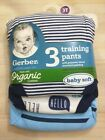Gerber Organic Cotton Reusable Training Pants 3 PACK SIZE 2T 3T  POTTY TRAINING image