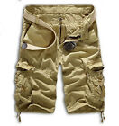 Men Cargo Shorts Long Pants Army Combat Tactical Military Casual Sport Trousers