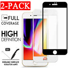 2-Pack For iPhone SE 8 7 6S 6 Plus FULL COVER Tempered Glass Screen Protector