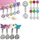 HOT Women Butterfly Smile Face Analog Quartz Clip-On Brooch Pocket Nurse Watch image
