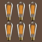 1/3/6 Pack Vintage Edison Light Bulbs 60W E26 Incandescent Filament Retro Lamp