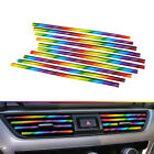 10x Car Air Conditioner Air Outlet Decoration Strip Accessories 20cm Multi-Color $2.43 USD on eBay