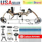 """Topoint Compound Bow 19-30""""/19-70Lbs Right Hand Hunting Archery Target 18 Arrows"""