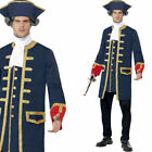 Mens Navy Admiral Pirate Captain Fancy Dress Costume