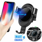 Auto Clamping Wireless 10W Fast Charger 360° Rotate Phone Holder Air Vent Mount