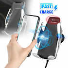 10W Qi Wireless Car Charging Mount Air Vent Cell Phone Holder For Iphone Samsung
