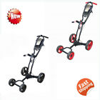 NEW Hoveroid Foldable 4 Wheel Golf Push Cart Aluminum Structure Suitable Cart