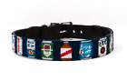 Beer Can Needlepoint Dog Collar