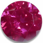 Lab Created Ruby Round Faceted Loose Gemstones Fine Cut AAA Quality