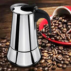 Stainless Steel Espresso Stove Top Coffee Maker Percolator Moka Pot 2/4/6/9 Cups