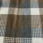 Luxury Wool Blend TWEED Fabric Material - T24 GREY/CREAM/BROWN