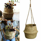 Hanging Hemp Rope Plant Flower Pot Holder Basket Hanger Home Decor 3Sizes