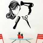 Romantic Hairdressing Home Decorations Decal Living Room Bedroom Wall Stickers