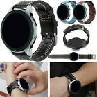 22mm Quick Release Retro Leather Watchband Wrist Strap For Samsung Watch 46mm US image