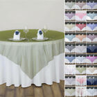 "6 pcs TABLE OVERLAYS 60"" Sheer Organza Wedding Catering Event Dinner Decorations"
