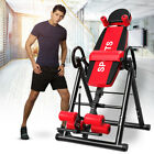 Heavy Duty Inversion Table Lumbar Pillow Folding Therapy Home Gym Back Training  image