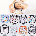 Внешний вид - Infant Baby Girl Boy Cotton Waterproof Bandana Bibs Toddler Feeding Saliva Towel