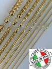 Kyпить Mens 14k Gold Over Solid 925 Sterling Silver Miami Cuban Chain 2-12mm Necklace на еВаy.соm