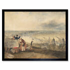 Turner View London From Greenwich Painting Wall Art Print Framed 12x16