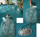 KING Gustav III Swedish Glass Flasks 'Brännvinsflaskor  ENGRAVED monogram cypher