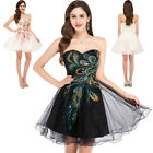 Women's Strapless Sleeveless Tulle Ball Cocktail Evening Prom Party Mini Dress