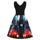 Women's Plus Size Halloween Vintage Dress Bat Spider Web Embroidery A Line Style