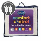 Silentnight Comfort Control Heated Teddy Topper Dual Control Double King Super K