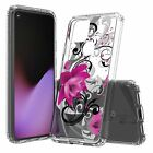 For T-Mobile REVVL 5G 4 4+ Sunflower Pink Hearts Floral Pine Phone Case Cover