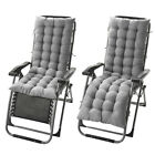 """Deck Chair Cushion Lounge Tufted Chaise Padding Outdoor Indoor Recliner 61"""" 49"""""""