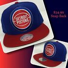 🔥DETROIT PISTONS SNAP BACKS by Mitchell and Ness🔥 on eBay