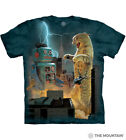 The Mountain Unisex Adult Catzilla Vs Robot T-Shirt Cotton Tee Sizes S-L-XL NWT image