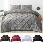 Pinch Pleat Pintuck Duvet Comforter Cover Pillowcase Bedding Set Twin Queen King image