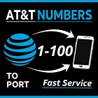 Kyпить AT&T Numbers to Port - Any Area Code - Fast Delivery | Bundles 1-100  - Lot Sale на еВаy.соm