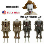 Adult Outfit Halloween Costume Movie It Chapter Two Pennywise Cosplay Clown Suit