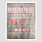 Philadelphia Phillies World Series and Retired Numbers- poster print on Ebay
